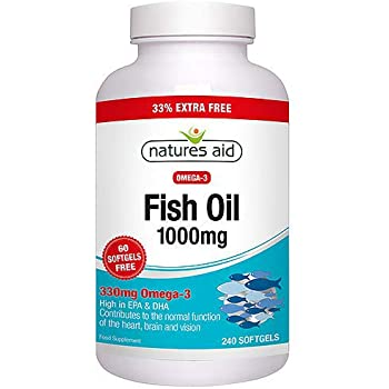 Natures Aid Omega 3 Fish Oil 1000ml 240 caps