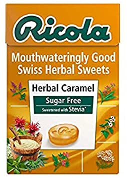 Ricola Herbal Sweets Box Sugar Free Herbal Caramel