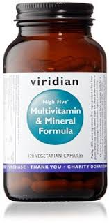 Viridian High Five Multivitamin & Mineral Formula 120 Caps