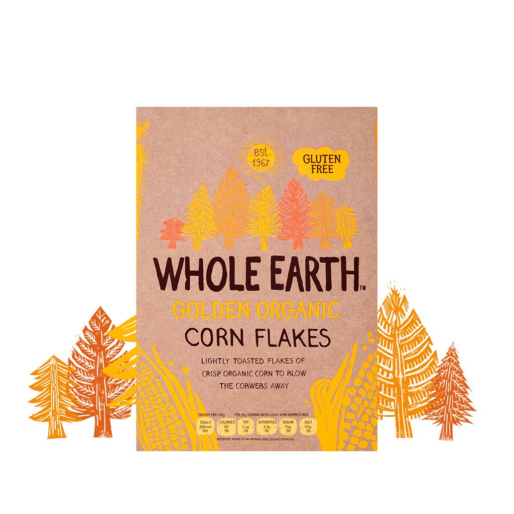 Whole Earth Cereal Golden Organic Corn Flakes