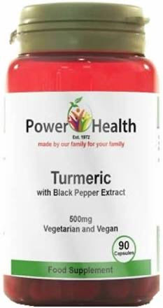 Power Health Turmeric 500mg with black pepper 90 Caps