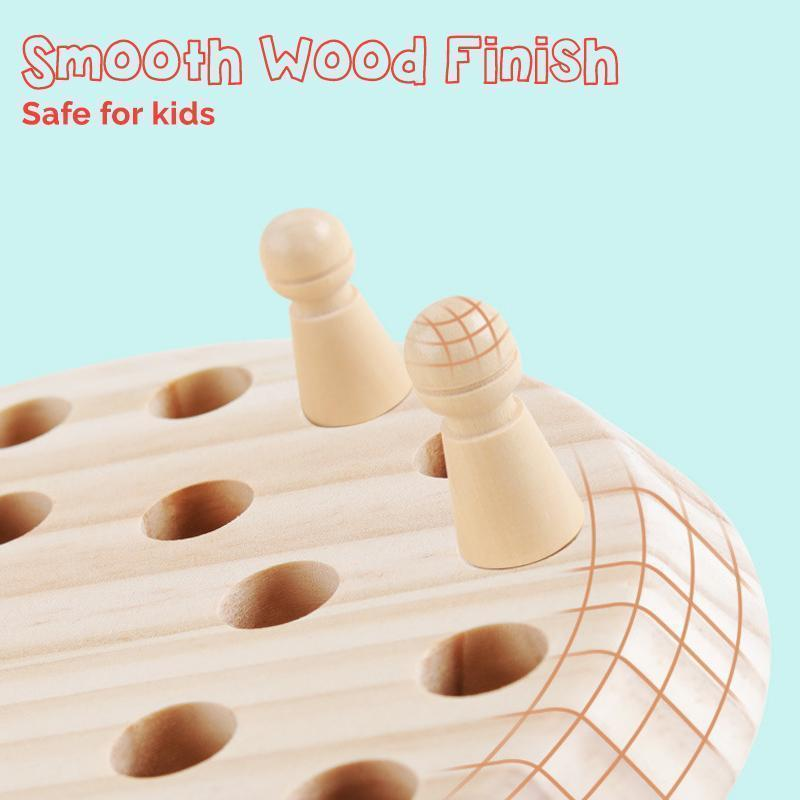 Wooden Memory Chess Game