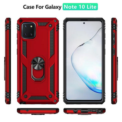 2020 ALL New Luxury Armor Shockproof With Ring Kickstand For SAMSUNG Galaxy Note10 Lite