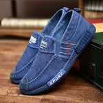 Men Washed Canvas Soft Sole Slip On Casual Shoes
