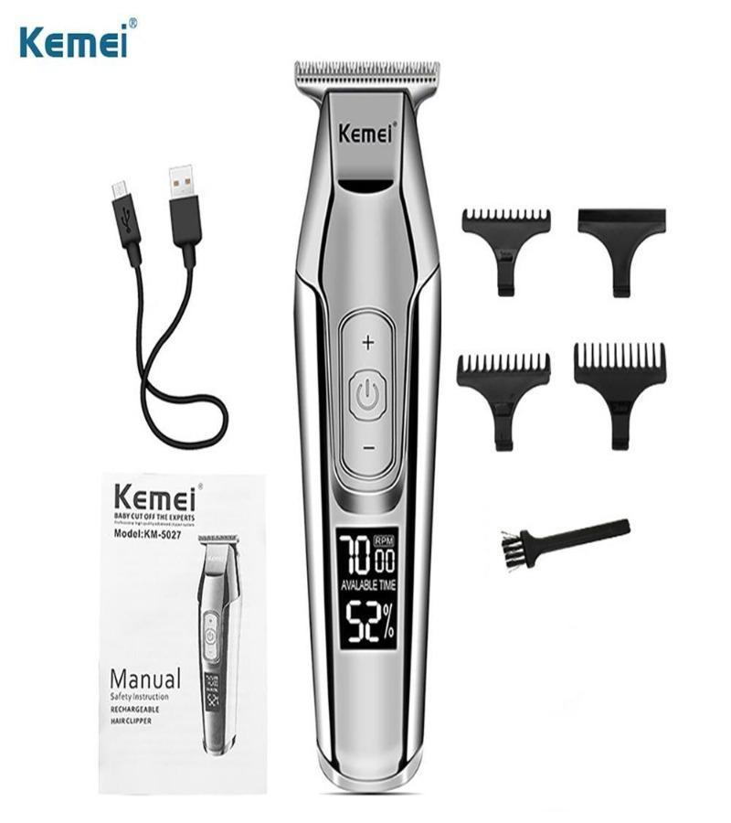 LCD display Hair trimmer 4 speed control USB control