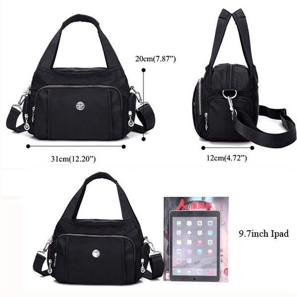 Solid Waterproof Crossbody Bag Travel Bag Viconchic