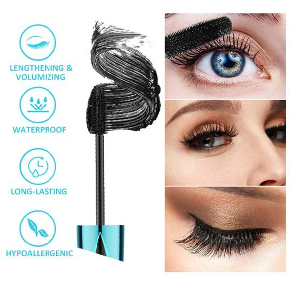 2020 NEW 4D Waterproof Silk Fiber Thick Lengthening Mascara