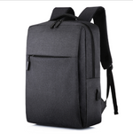 New Simple Usb Rechargeable Backpack Men And Women Casual Business Computer Bag