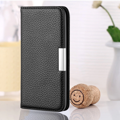 2020 Lychee Pattern Leather Wallet Phone Case for iPhone