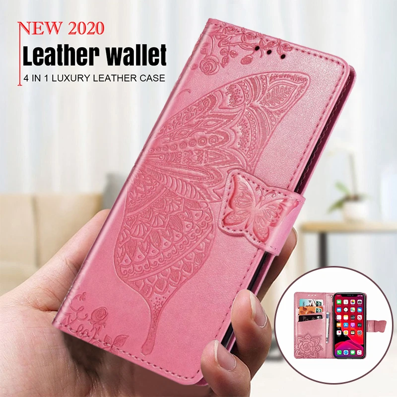 New Luxury Embossed Butterfly Leather Wallet Flip Case for IPHONE X/XS/XS MAX