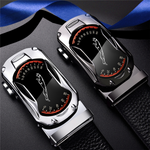 Fashion sports car men leather belt
