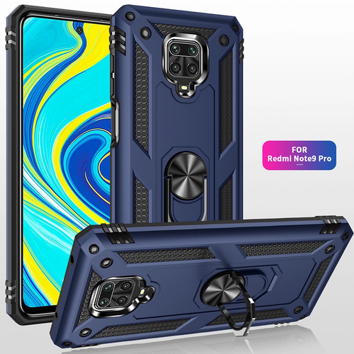 2020 ALL New Luxury Armor Shockproof With Ring Kickstand For Xiaomi Redmi Note9 Pro