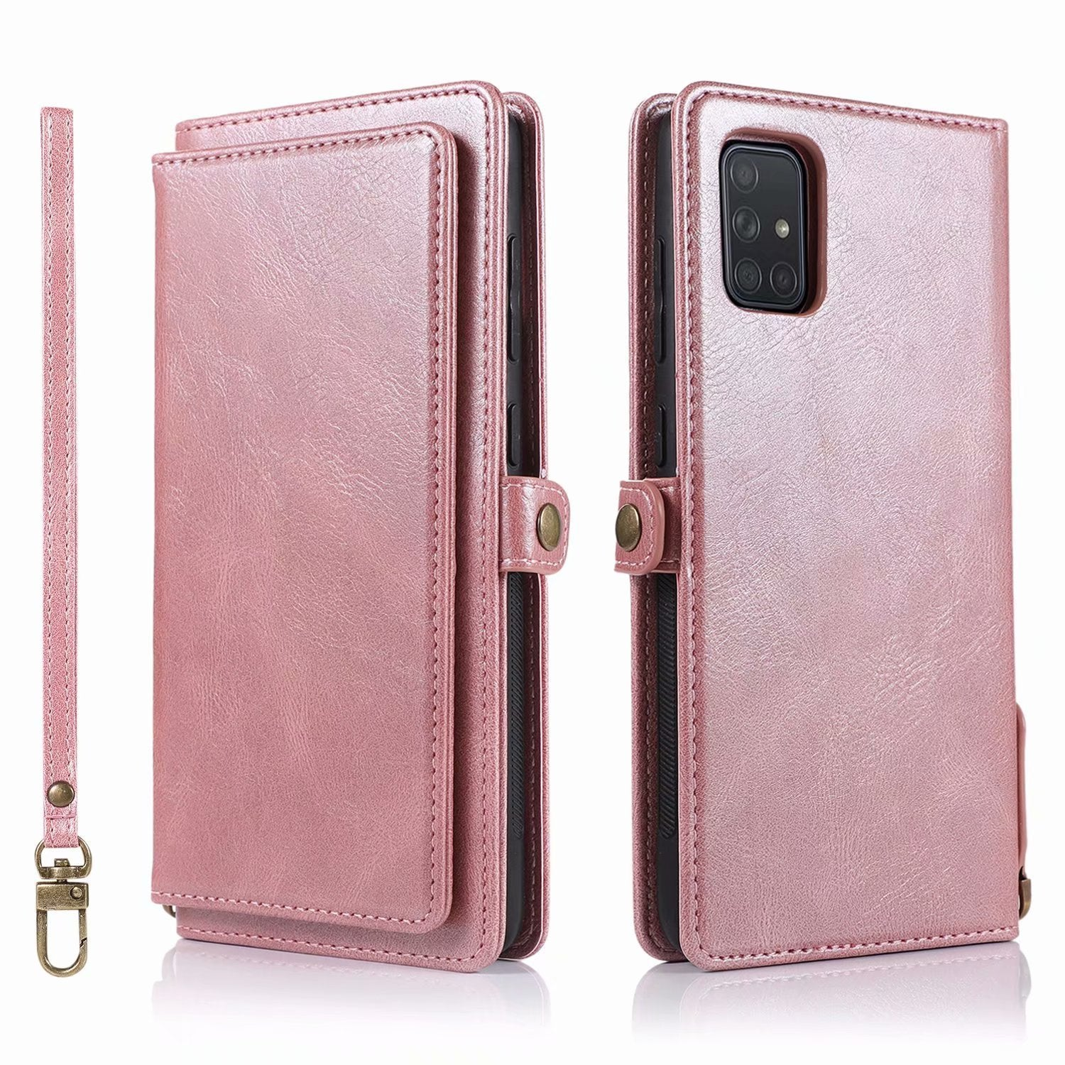Multifunctional Split Magnetic Wallet Phone Case For Samsung A Series