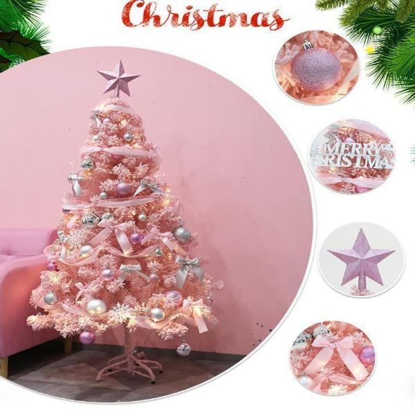 Elegant pink and blue Christmas tree