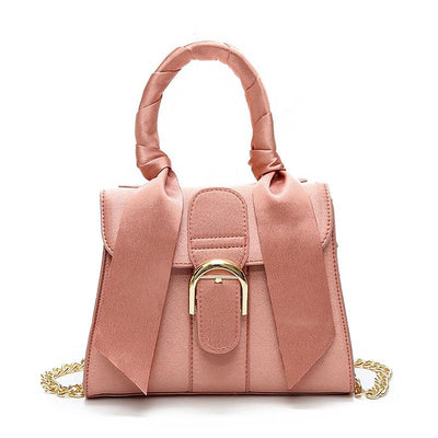 Bow-knot satin ladies bag