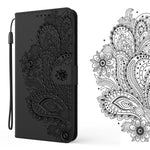 Peacock Embossed Imitation Leather Wallet Phone Case For Samsung Note20