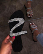Diamond Strap Embellished Sandals