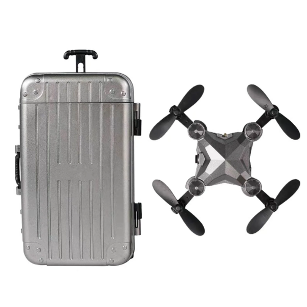 Foldable Mini Suitcase Drone for Kids with HD Camera