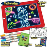 Ontel Bonus Magic Pad Deluxe Light Up LED Drawing Tablet