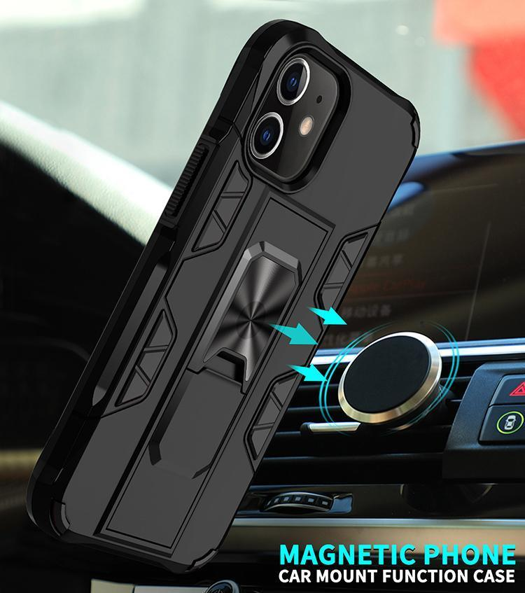 2020 Luxury Magnet Kickstand Car Holder Ring iPhone 12 series Case