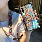High Quality Bohemian Lanyard Ring Case For iPhone Samsung Huawei