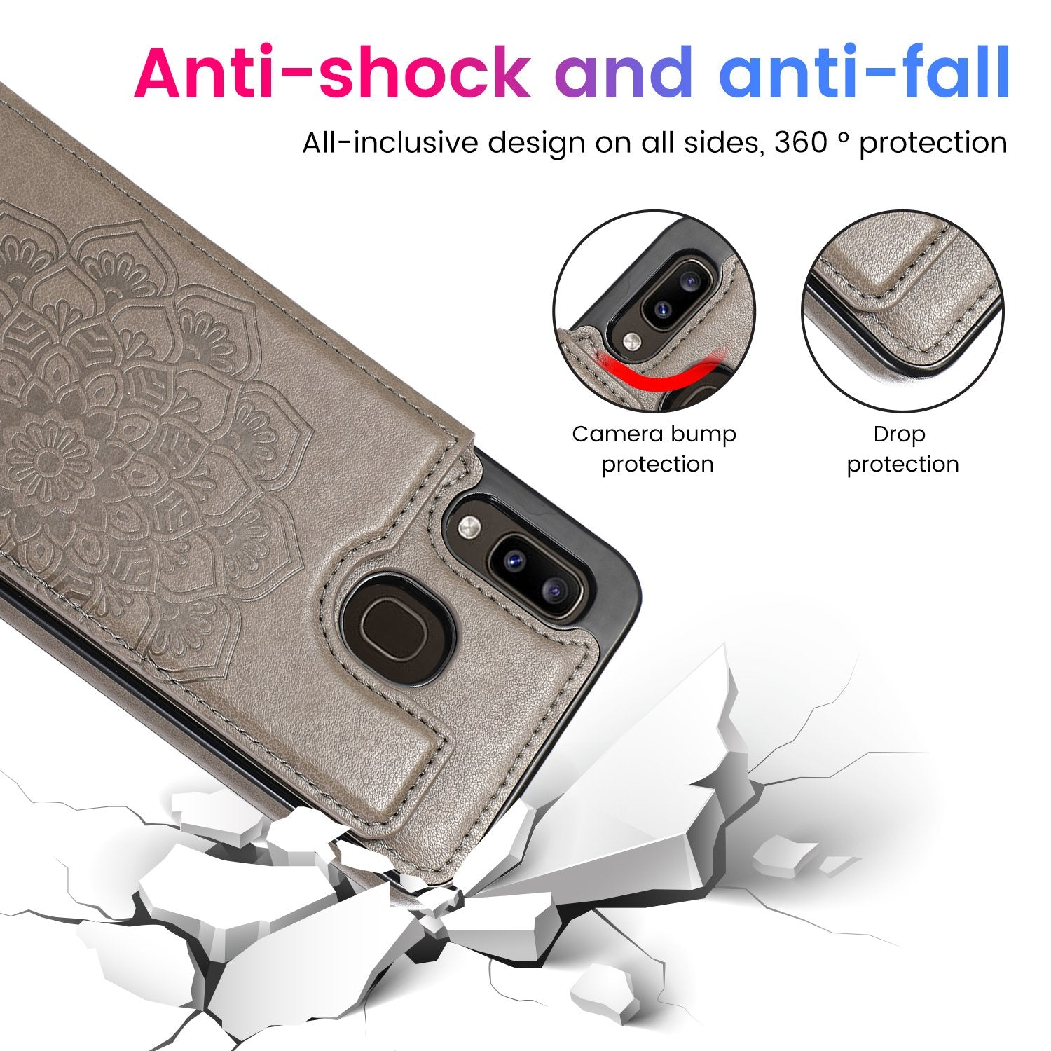 2020 New Style Luxury Wallet Cover for Samsung A20/A30/A10E/A20e