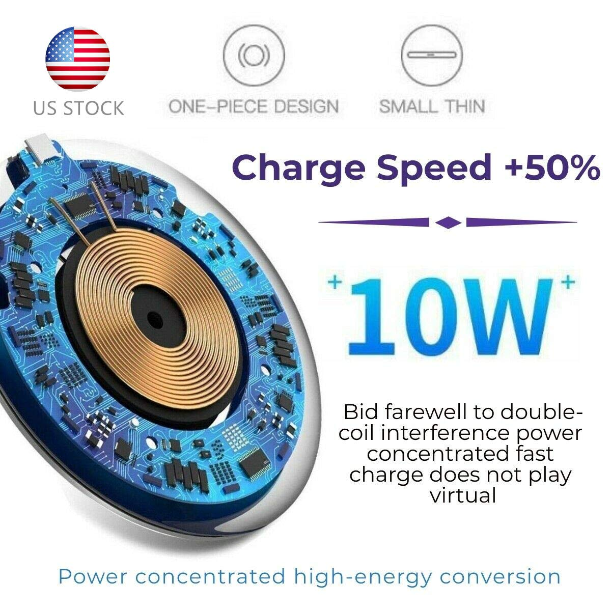 10W Super Fast LED Wireless Charger