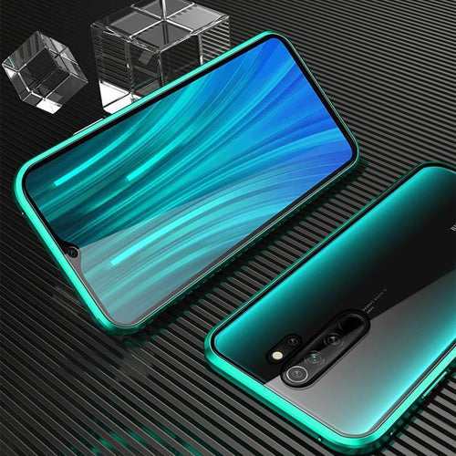 Metal Magnetic Full Glass Clear Cover For Xiaomi Redmi Note 8 Series