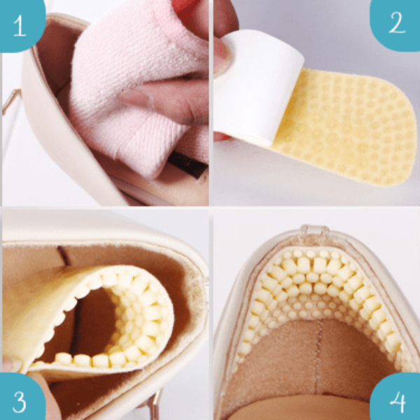 2 pair 4D Massage Anti-blister Heel Cushions