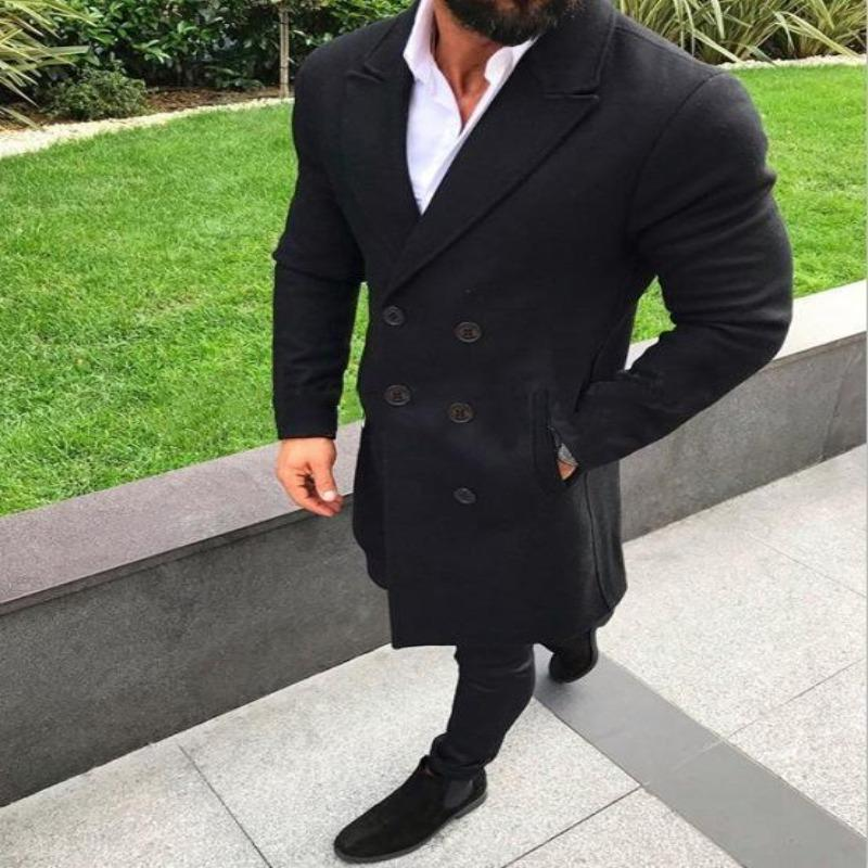 Men's windbreaker wool coat
