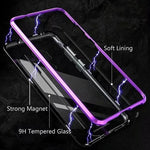 Magnetic Metal Aluminum Alloy Transparent Glass Armor Protect Phone Case for Huawei Mate 20 Series