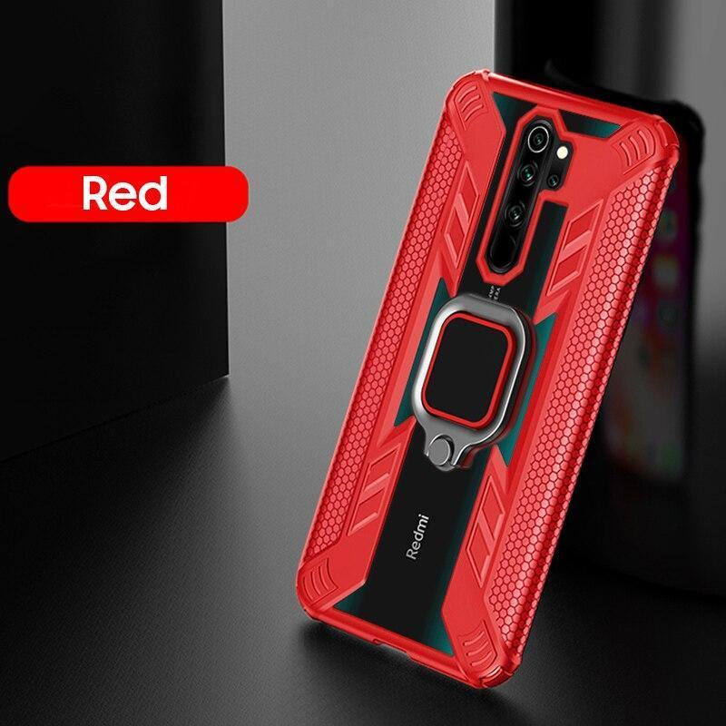Warrior Style Magnetic Ring Kickstand Phone Cover for Xiaomi Redmi Note8 Pro