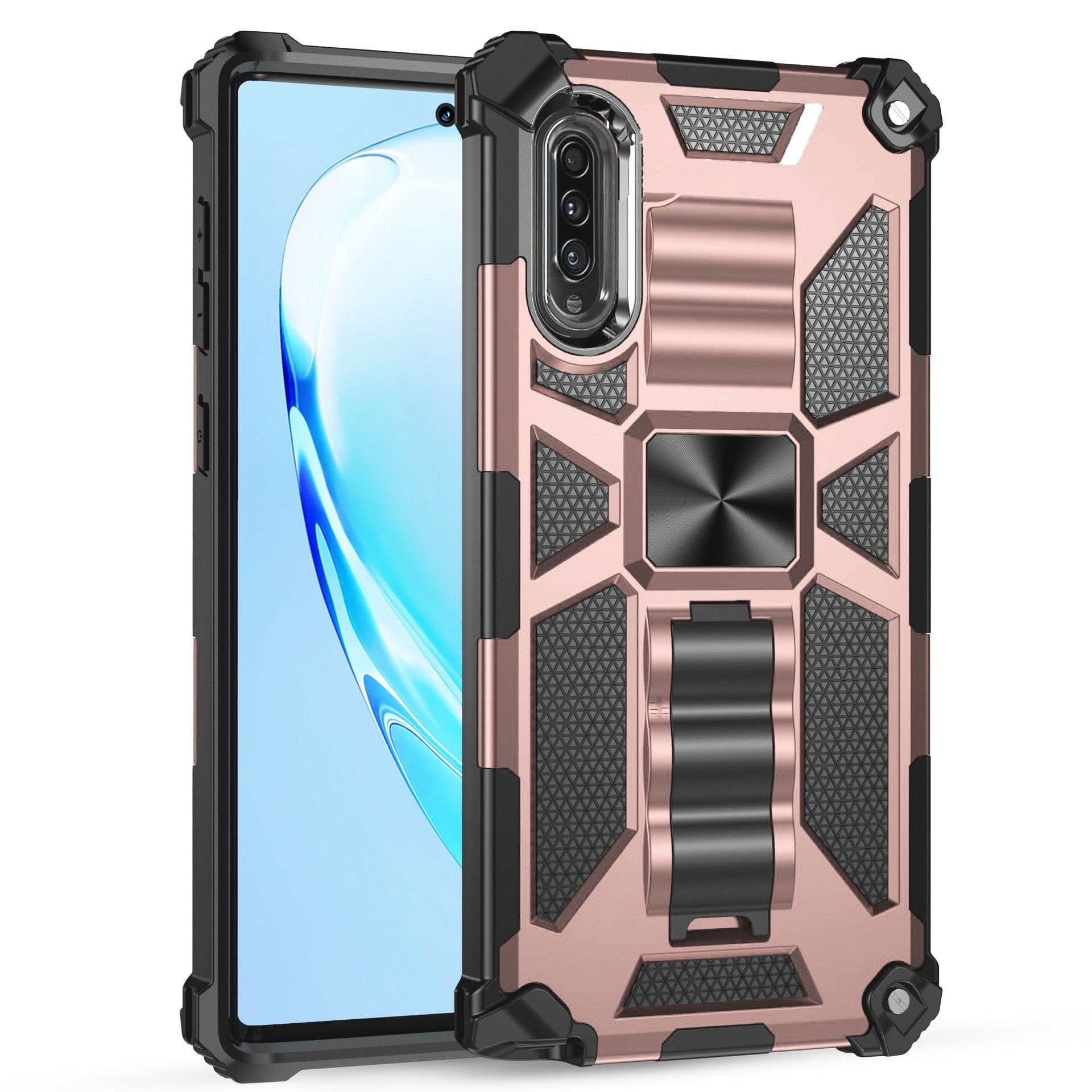 Luxury Armor Shockproof With Ring Kickstand  For SAMSUNG A Series