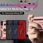 Luxury Armor Ring Bracket Phone Case For Samsung A21-Fast Delivery
