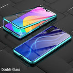Upgrade double-sided tempered glass magnetic adsorption case for Samsung  A Series
