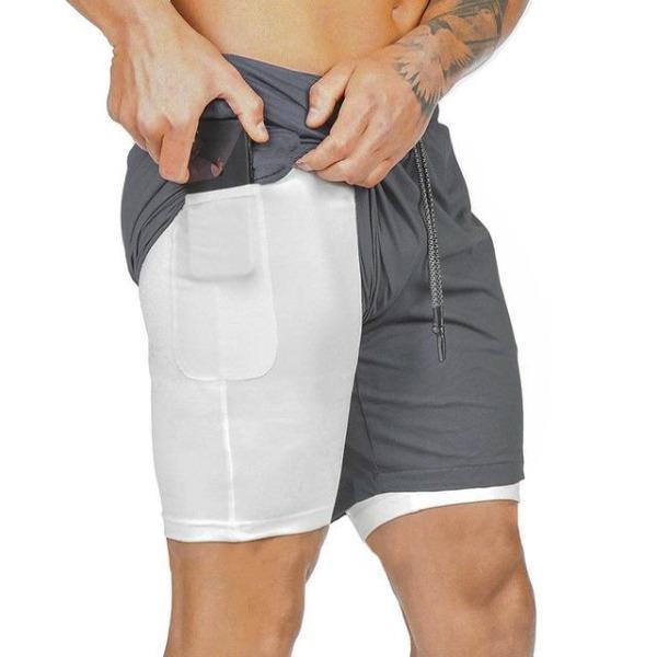 Men's Double Layer Quick-Drying Sport Shorts
