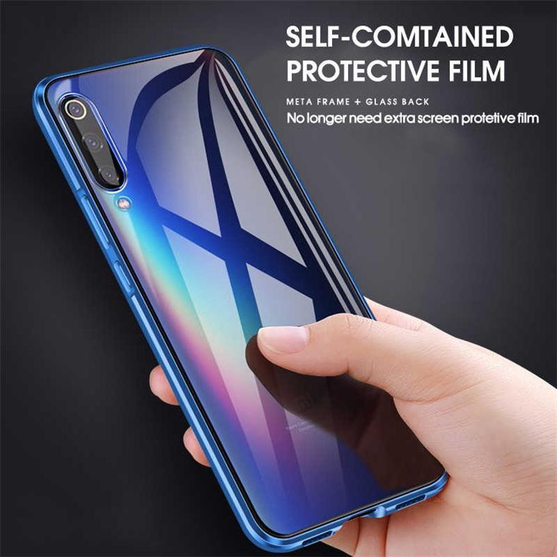 Double-sided Magnetic Full Cover Protector Case for Xiaomi Mi A3