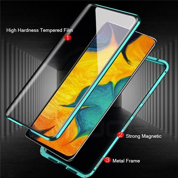Tempered Glass Bumper Hard Cover For Samsung A51 /A71/A91