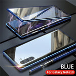 Upgraded Two Side Tempered Glass Magnetic Adsorption Phone Case for Samsung Note 10/10Plus