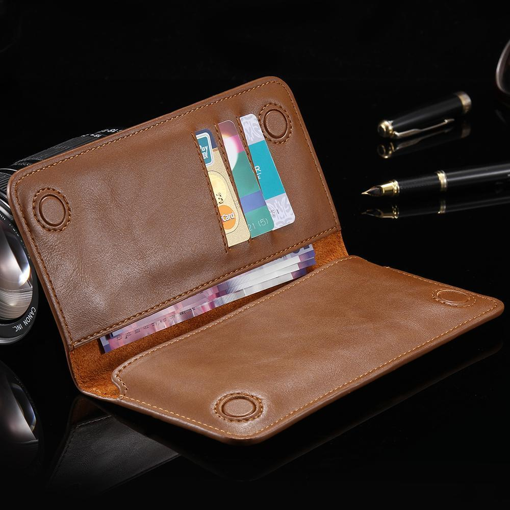Unisex Universal Genuine Leather Wallet Phone Case
