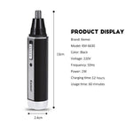 Kemei 4 in 1 Men Electric Nose Ear Hair Beard Eyebrow Trimmer