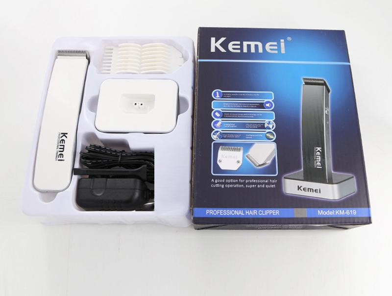 Kemei Electric  Portable Men Women Hair Shaver with 3 Combs