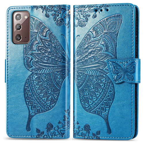 2020 Luxury Embossed Butterfly Leather Wallet Flip Case For Samsung Note20