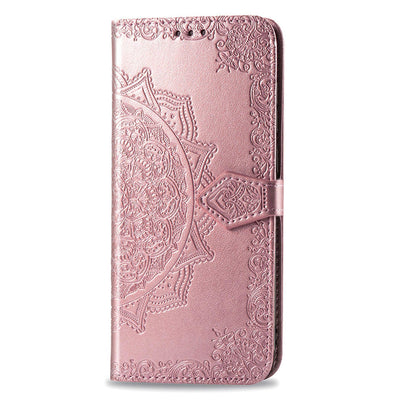 2020 Luxury Embossed Mandala Leather Wallet Flip Case for iPhone X/XS/XS Max