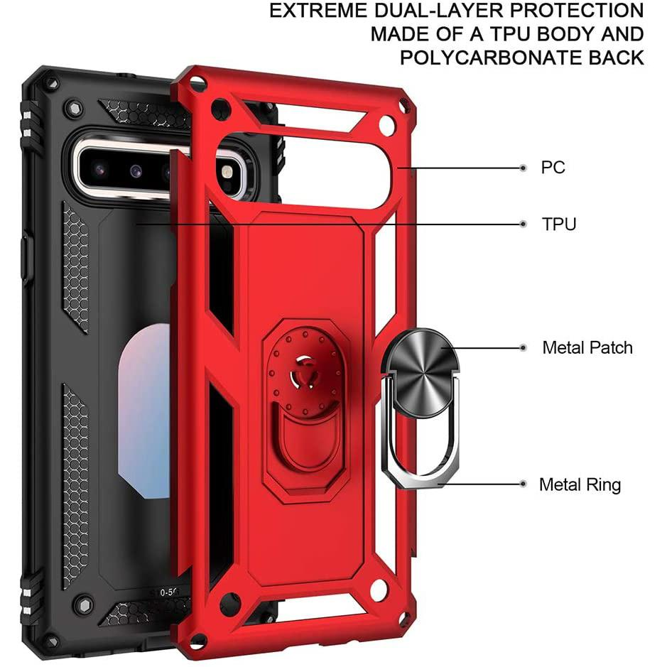 Luxury Armor Ring Bracket Phone Case For Samsung S10(5G)-Fast Delivery