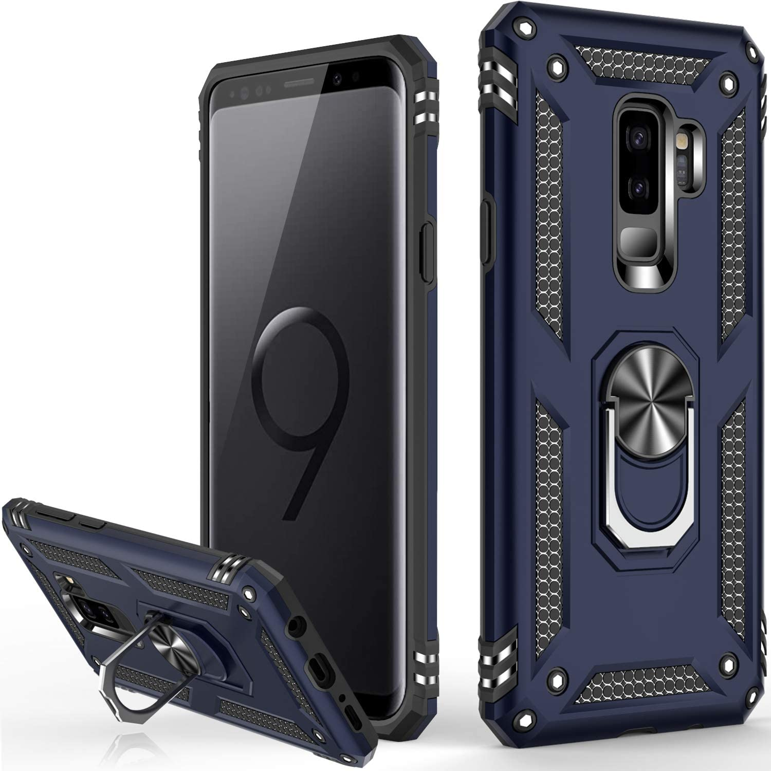 Luxury Armor Ring Bracket Phone Case For Samsung S9-Fast Delivery