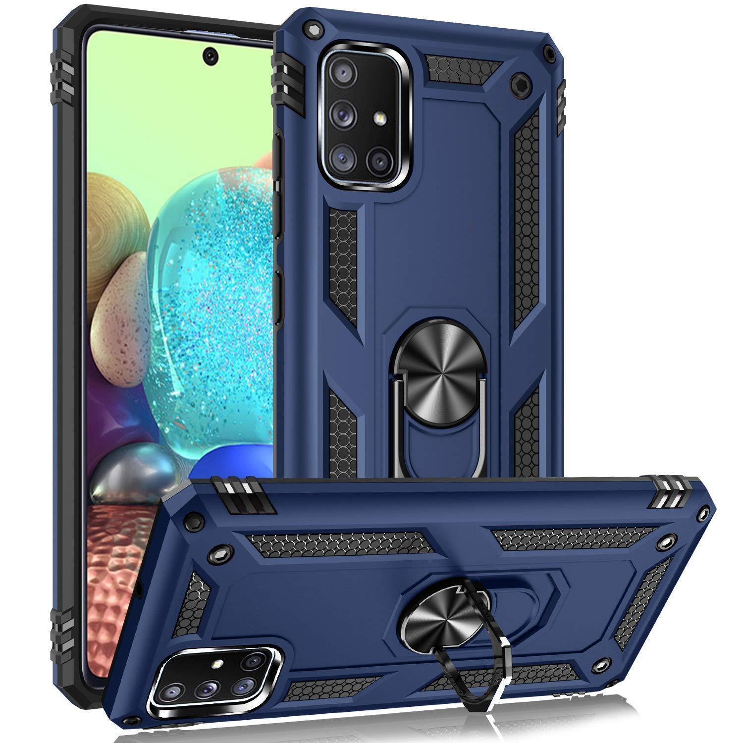 Luxury Armor Ring Bracket Phone Case For Samsung A71