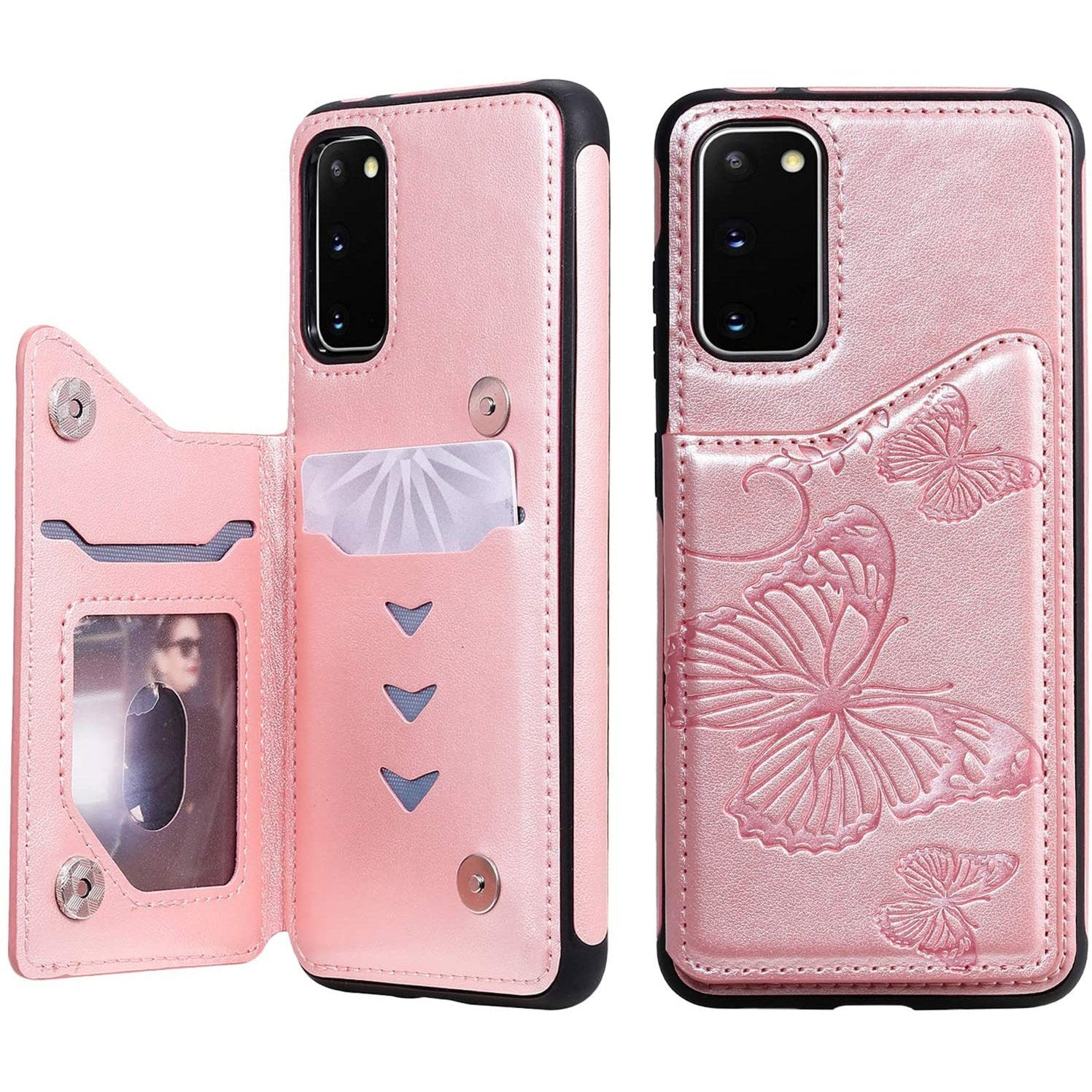 New Luxury Embossing Wallet Cover For SAMSUNG S20 FE/5G-Fast Delivery
