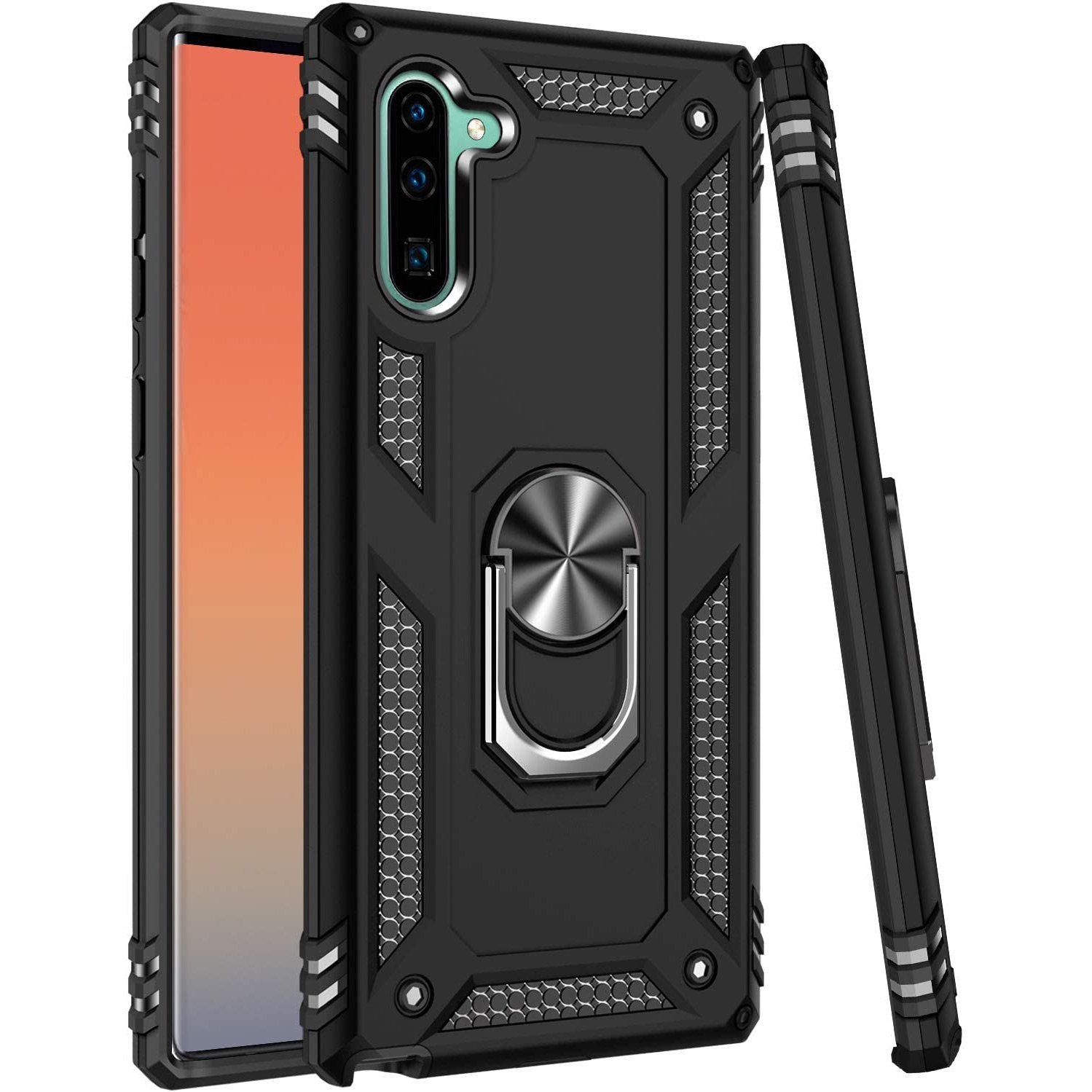 Luxury Armor Ring Bracket Phone Case For Samsung Note 10-Fast Delivery