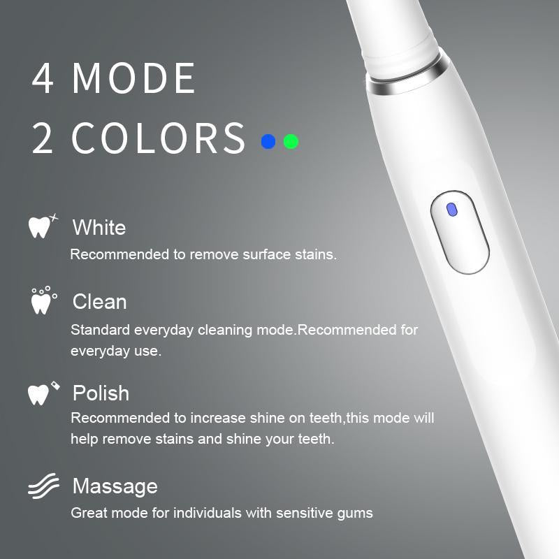 Seago Electric Toothbrush Rechargeable USB Charging Adult with Timer Teeth Whitening with 4 Modes